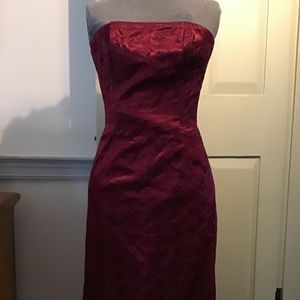 Jessica McClintock embroidered satin dress